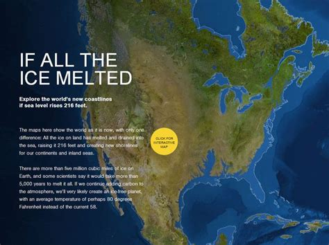 httpwww nationalgeographic com125the new age of exploration if all the ice melted explore the world s new coastlines
