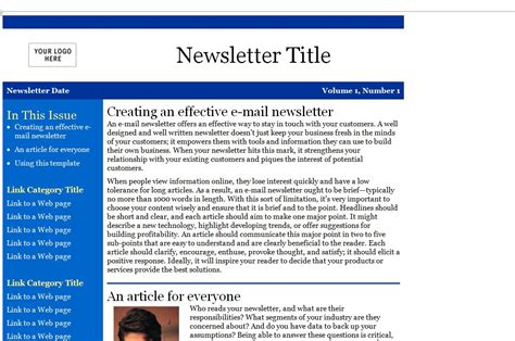free publisher newsletter templates inquangcao info
