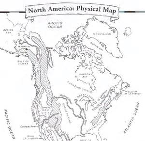 map of united states and canada physical features