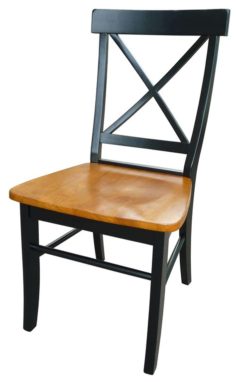 x back wood chair x back chair with solid wood seat ojcommerce