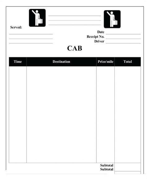 washington dc taxi receipt template taxi receipt blank muxvlog club