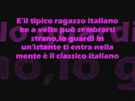 tipica ragazza italiana testo la tipica ragazza italiana con testo lyrics
