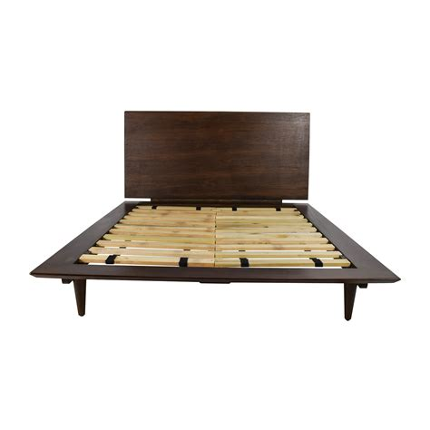 full size bed and frame 86 off full size brown wood bed frame beds