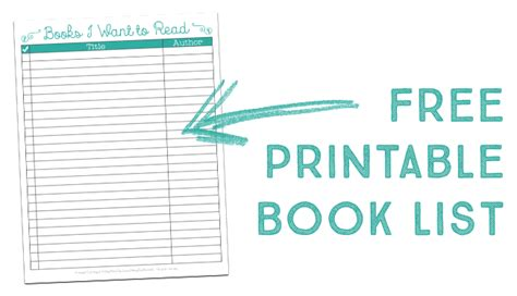 book list free printable book list plus a look at what i m reading