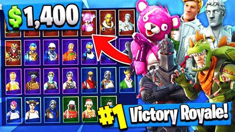 fortnite news most expensive 1400 account rarest skins inventory