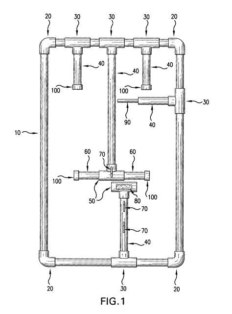 patent us7083055 hockey equipment drying rack