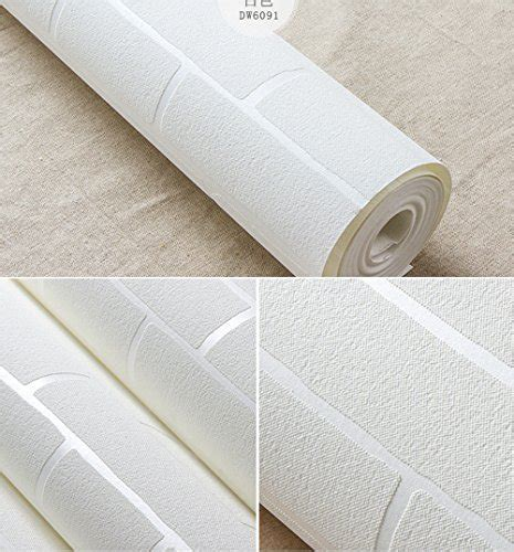 self adhesive textile wallpaper the graphic mill removable peel and stick 3d white brick wallpaper mural
