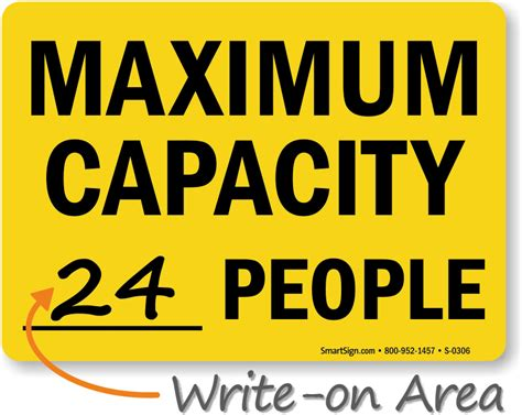 Maximum Occupancy Signs Ship Free From Mysafetysign Occupancy Sign Template