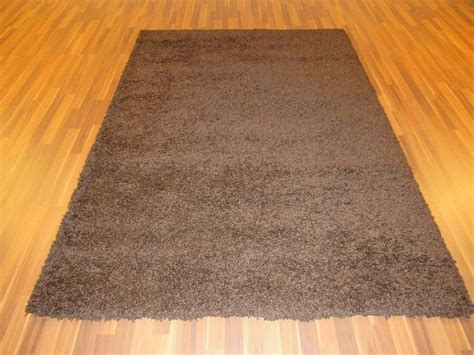thick area rugs 5 x 8 brown shag area rug thick shaggy carpet ebay