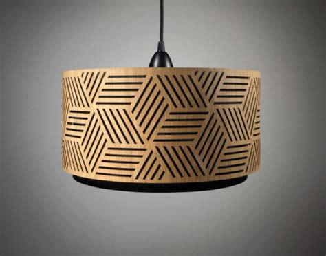 Interesting Lamps by Laser Cut Wooden Lampshades Design Milk