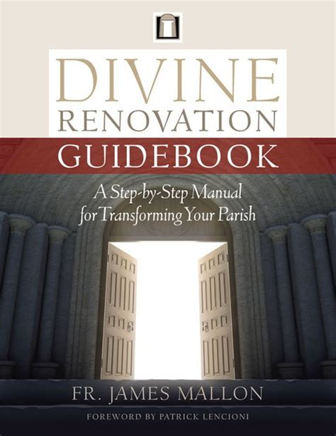 renovation apprentice learning to lead a disciple parish books renovation guidebook a step by step manual for