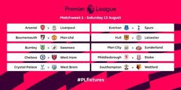 Calendario De Arsenal Premier League Fixtures 2016 2017 Are Out Kabumbu Sports