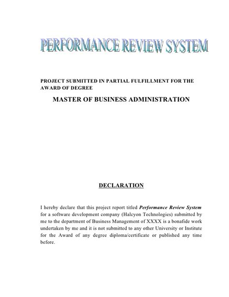 Performance Appraisal Questionnaire Mba by Performance Appraisal Questionnaire On Performance