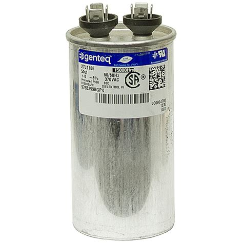 what does mfd capacitor 50 mfd 370 vac run capacitor genteq motor run capacitors capacitors electrical www