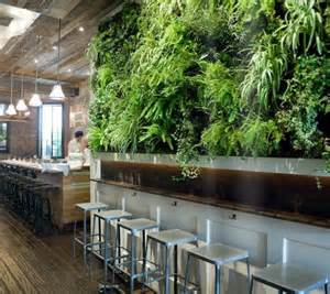Kitchen Garden Living Wall Repurposed Materials Give Restaurant Some Flair