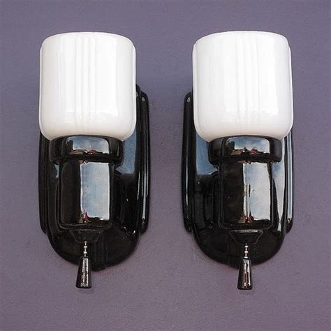 Black Bathroom Wall Sconces Typical Accent Lighting Pieces In Vintage Bathrooms And