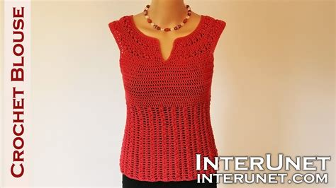 youtube shirt pattern crochet blouse red sage stitch summer top crochet