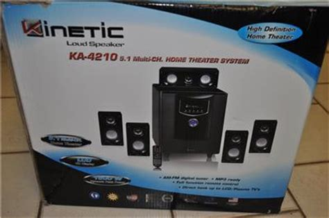 kinetic ka 4210 loud speakers 5 1 home theater system ebay