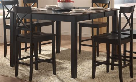 homelegance billings counter height dining table with lazy
