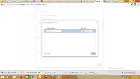 chrome javascript not working website blocking javascript in chrome is not working