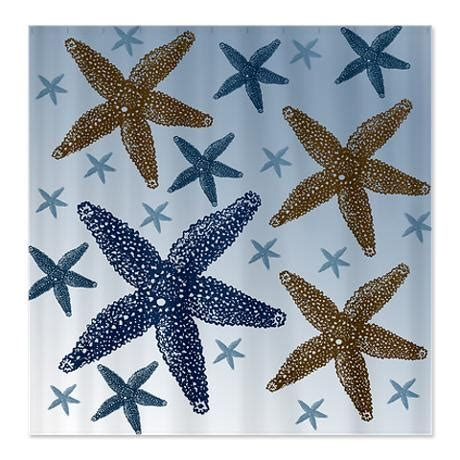 starfish curtains gold and blue starfish shower curtain on