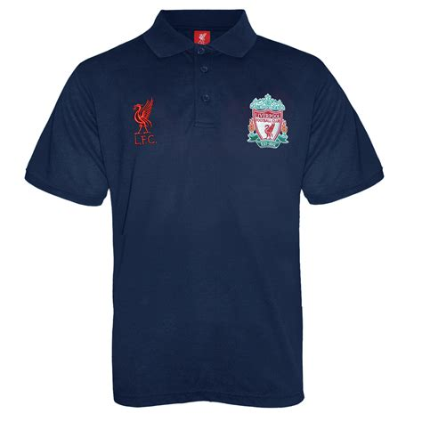 Polo Shirt Liverpool Fc Black liverpool football club official soccer gift boys crest