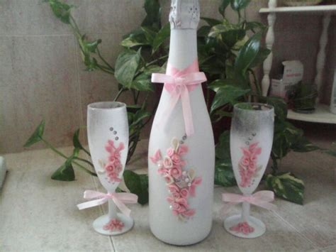 imagenes de uñas decoradas para 15 años botella de chan y copas decoradas con flores de
