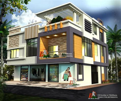 Home Design 3d Store | 3d bungalow with shop by d k 3d home design architecture
