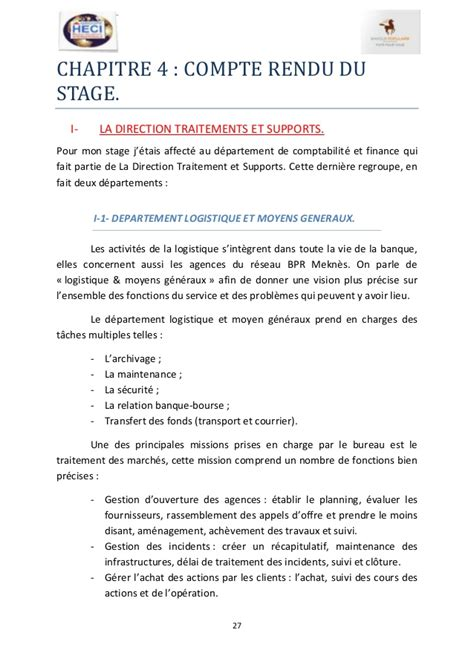 exemple de rapport de stage journalier   Document Online