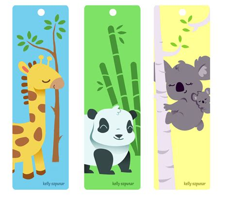 Printable Animal Bookmarks | animal bookmarks by knackful on deviantart