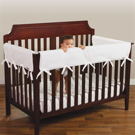 Crib Guard Rail Covers by Trend Lab Fleece Cribwrap Rail Covers For