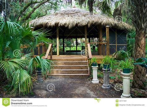 Tiki Hut Cost Tiki Hut Building In Florida Park Stock Photo Image
