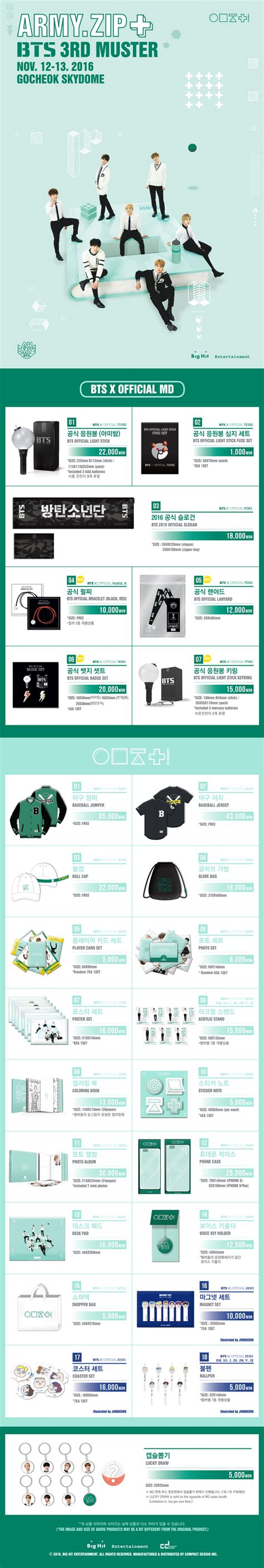 bts muster bts 3rd muster army zip