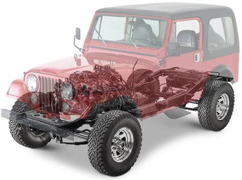 Jeep Cj5 Accessories 1940 1986 Jeep Mb Cj5 Cj7 Replacement Parts Quadratec