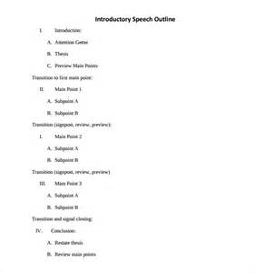 Self Introduction Speech Outline Exle by Sle Introductory Speech Exle 9 Free Documents In Pdf Word
