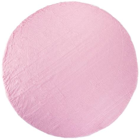 pink circle rug home decorators collection faux sheepskin pink 8 ft area rug 1100 the home depot