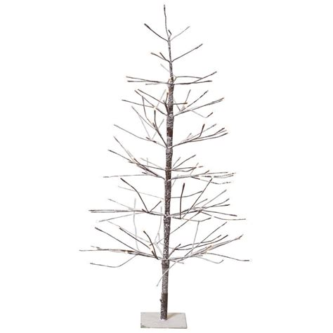 artificial bare trees martha stewart living 4 ft pre lit led snowy brown artificial tree 9772900820 the