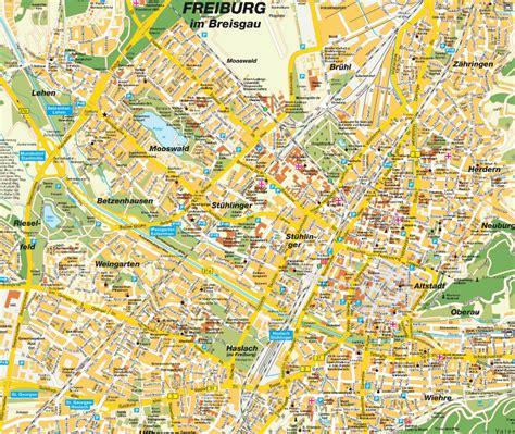 map of freiburg freiburg carte et image satellite
