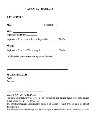 template sales agreement letter for car images example ideas