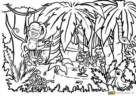 jungle coloring pages jungle coloring for adults and