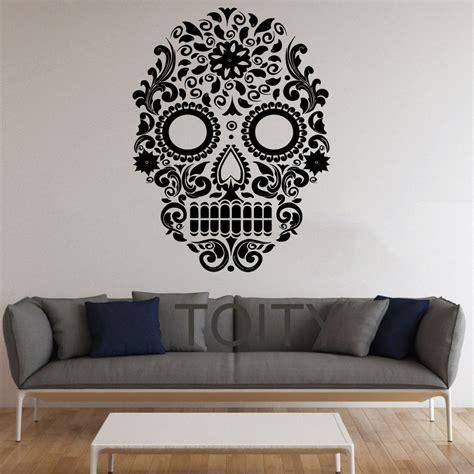 home decor vinyl wall art aliexpress com buy sugar skull wall stickers mexican art vinyl decals home interior decor