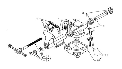 diagram of bench vice buy wilton 63200 1755 replacement tool parts wilton