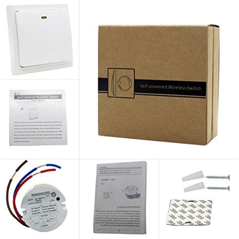wireless light switch and receiver kit crelander self powered waterproof wireless light switch