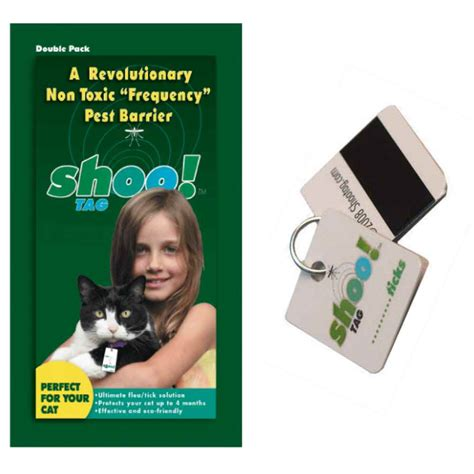 human shoo on dogs shoo tag cat flea tick repellent pack naturalpetwarehouse
