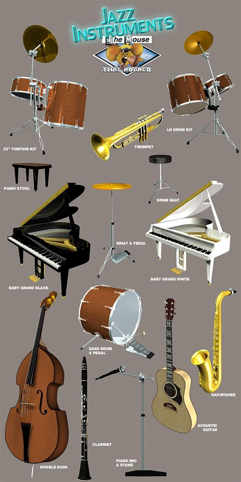 Swing Jazz Instruments Jazz Instruments By The Mouse That Roared 3d Models Tmtr