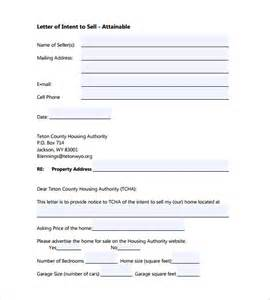 Letter Of Intent To Sell House Sle 11 Letter Of Intent Templates Free Sle Exle
