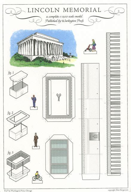 Lincoln Memorial Washington Dc Cut Out Postcard By Shook Photos Via Flickr Paper Crazy Memorial Paper Template