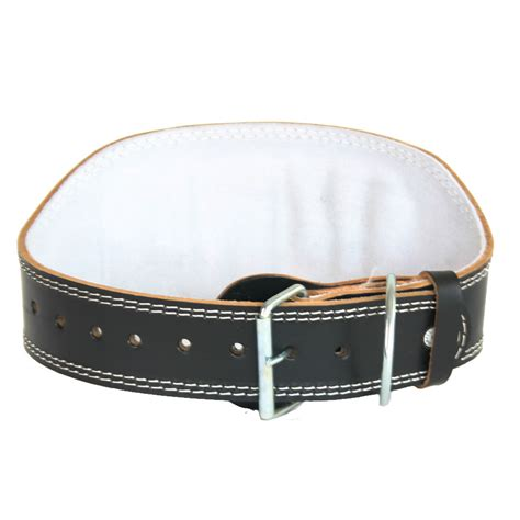 leather 6 quot weight lifting belt deluxe