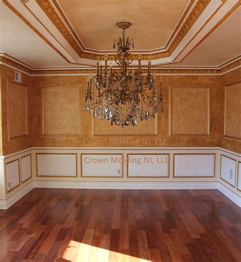 coffered walls ceiling designs crown molding nj