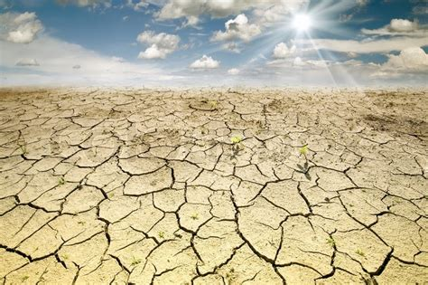 desert ground land with dry and cracked ground desert stock photo